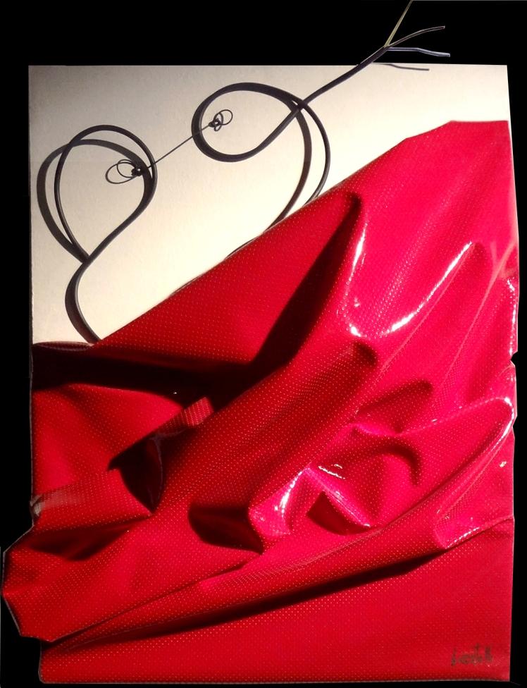 l'amour di ISa Locatelli -tecnica-mista-su-tavola-70x60x10
