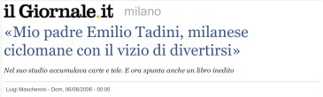 Francesco Tadini intervistato su Il Giornale